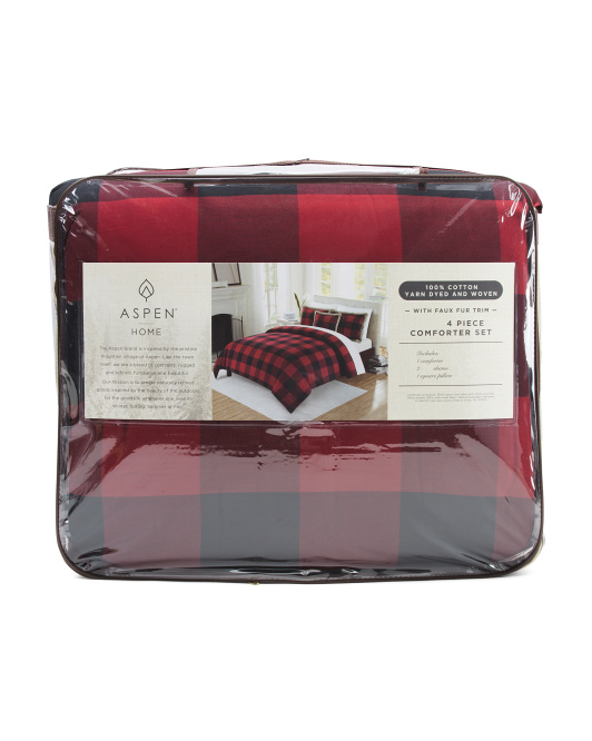 Buffalo Plaid Flannel Comforter Set $79.99 — $99.99