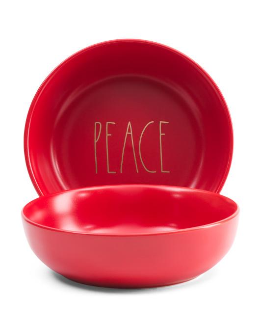 RAE DUNN2pk Peace Pasta Bowl Set$16.99