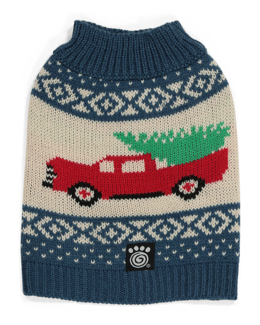 PET RAGEOUS Fairisle Truck And Tree Pet Sweater $7.99 — $12.99