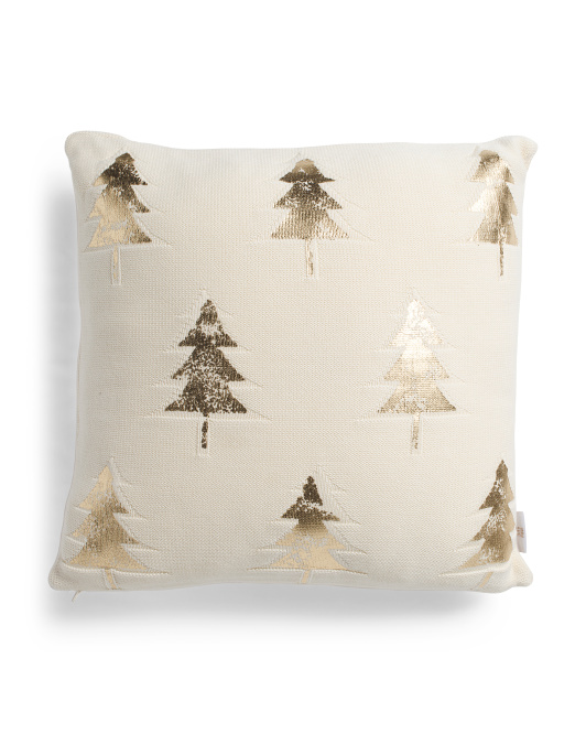 HANDCRAFTED IN INDIA20x20 Foil Tree Pillow$19.99