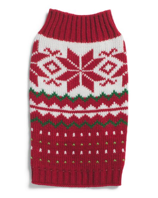 JLA PETS Snowflake Dog Sweater $9.99 — $12.99