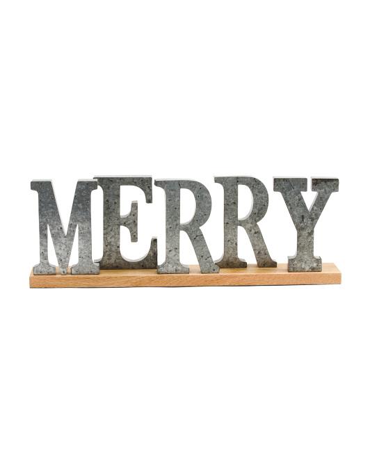 CHESTNUT LANE Decorative Merry Sign $29.99