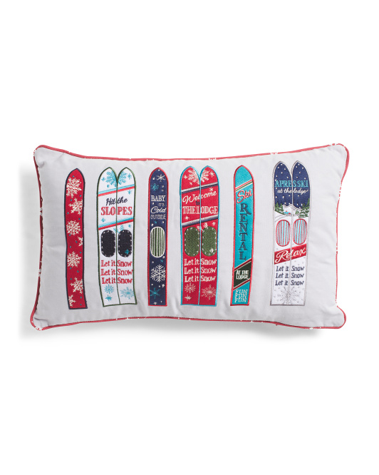 ASPEN 14x24 Graphic Skis Pillow $19.99