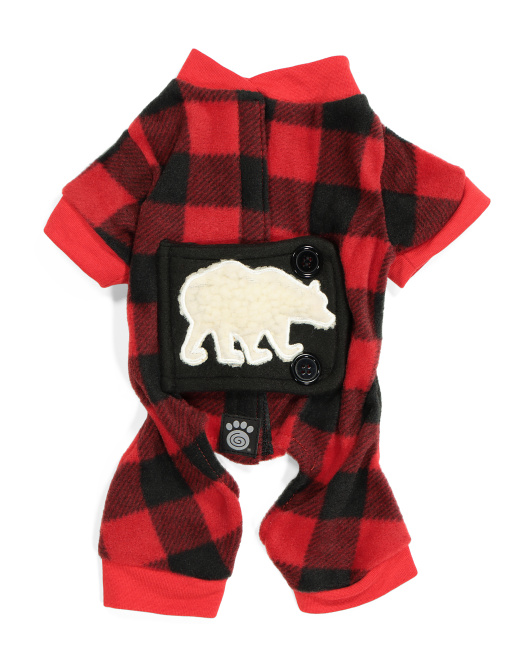 PET RAGEOUS Jackson Fleece Polar Bear Dog Pjs $9.99 — $12.99
