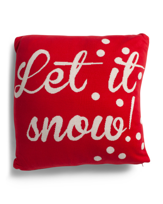 HANDCRAFTED IN INDIA 20x20 Let It Snow Pillow $19.99