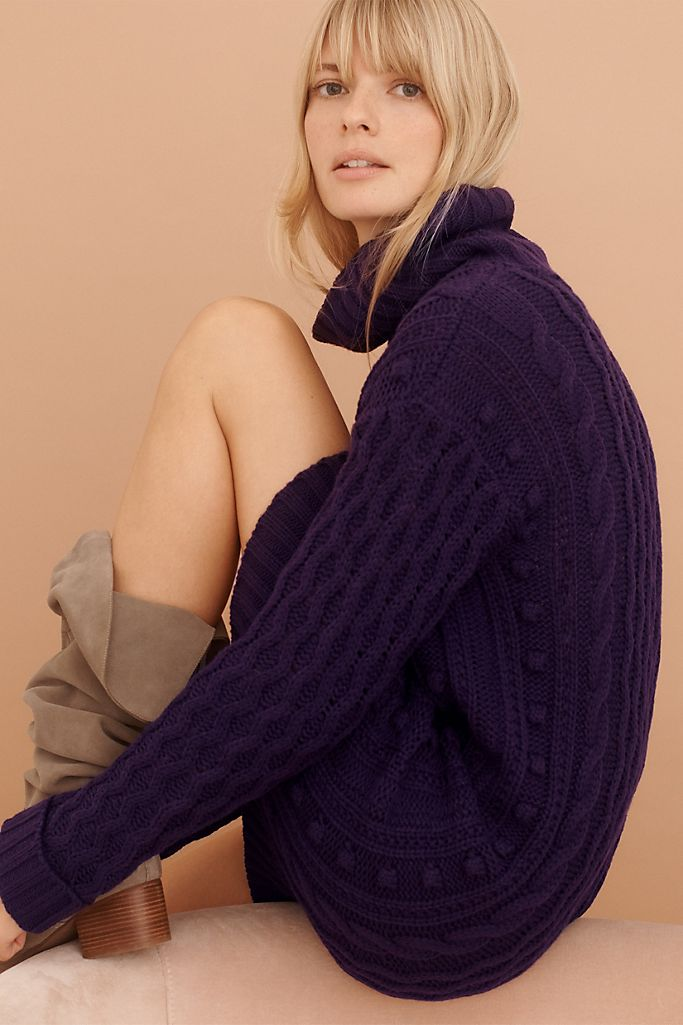 Chase Cable-Knit Tunic Sweater $128.00