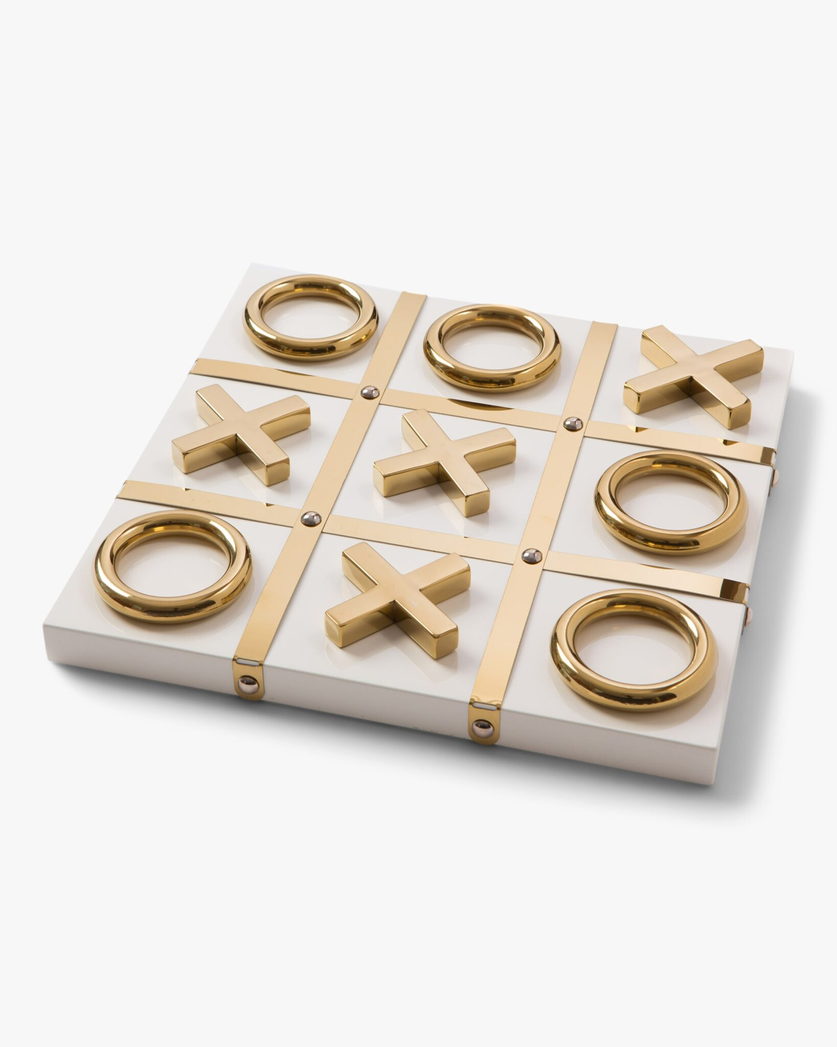 Aurosi Goldtone Tic-Tac-Toe Set $175.00