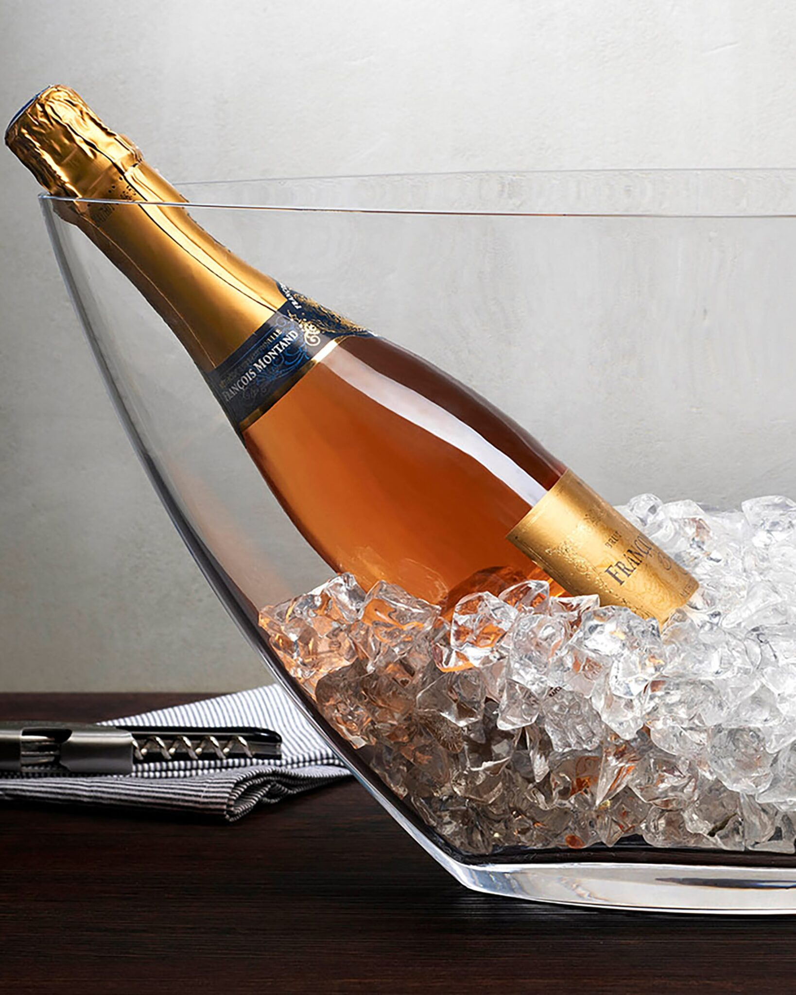 Nude Glass Ice Bath Champagne Cooler -XL $173.00