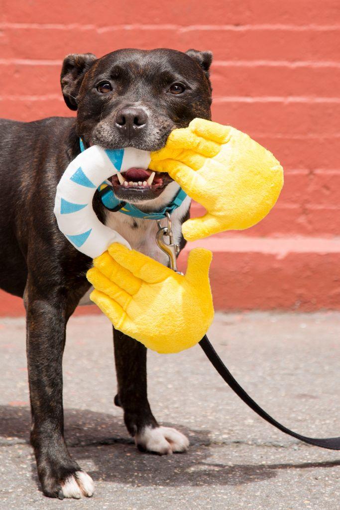 BARK Hallechewjah! Emoji Hands Dog Toy $12.00