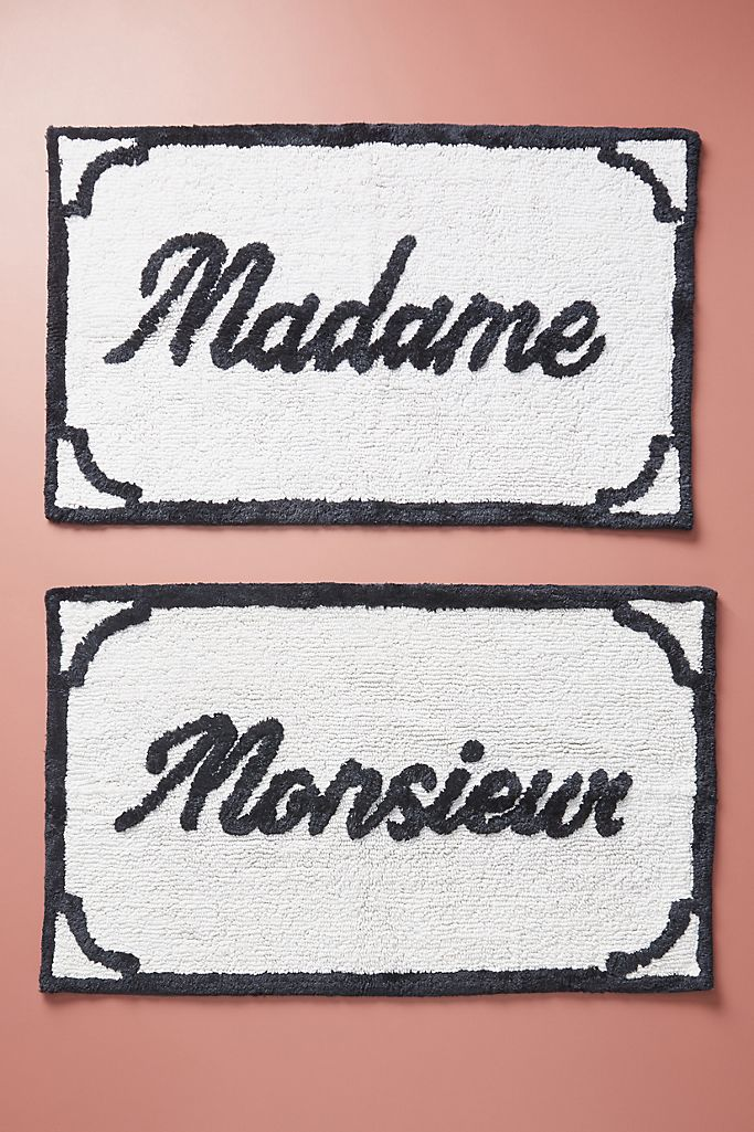 Monsieur & Madame Bath Mats, Set of 2 $78.00