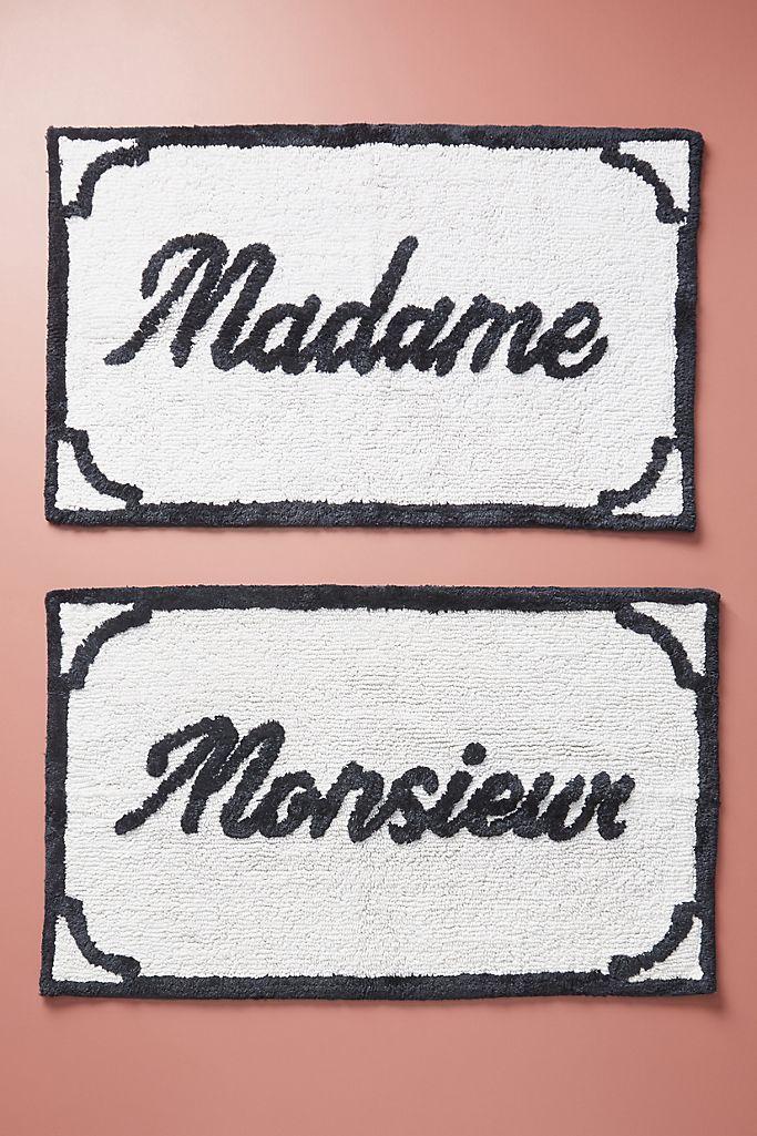Monsieur & Madame Bath Mats, Set of 2 $78.00