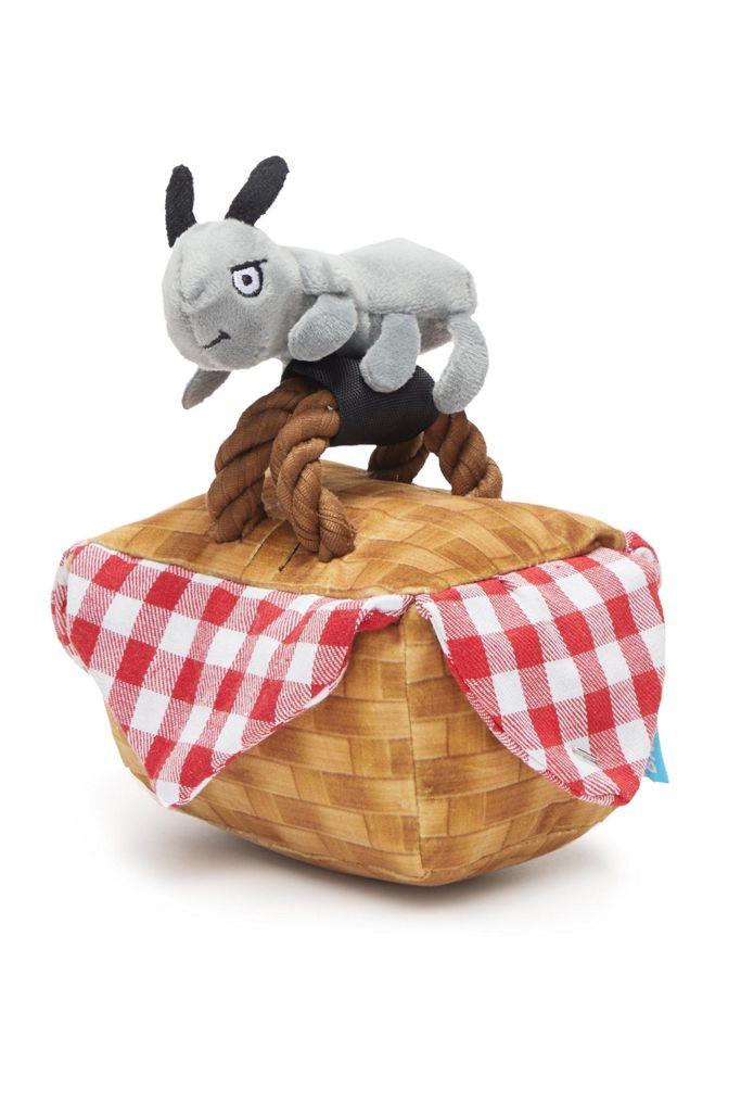 BARK Jam-Packed Picnic Basket Dog Toy $9.99