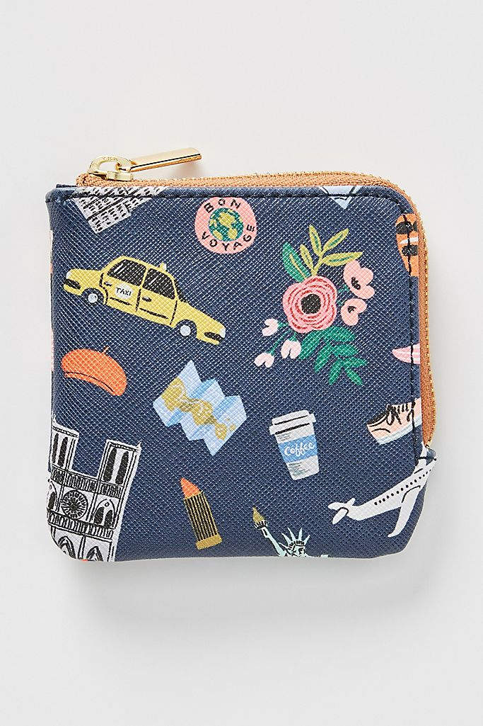 Rifle Paper Co. for Anthropologie Travel Icons Coin Pouch $24.00