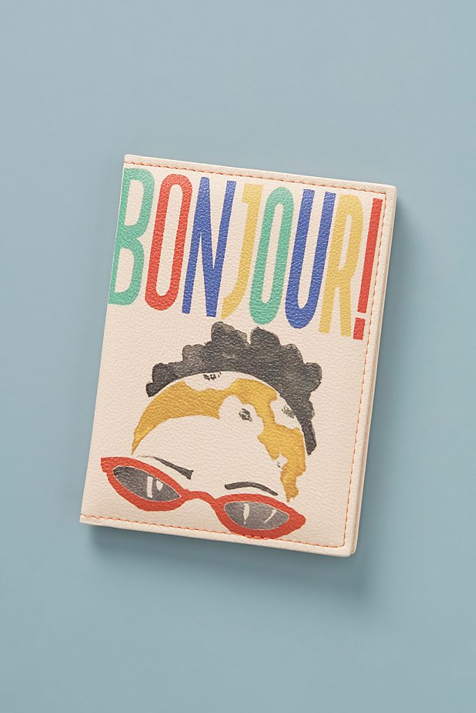 Bonjour Passport Holder $28.00