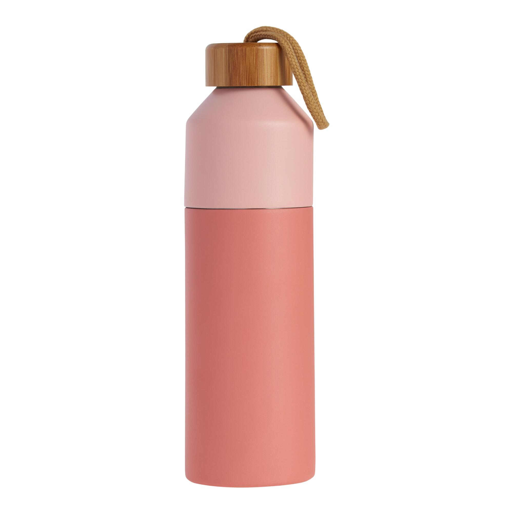 Two Tone Coral Infuser Water Bottle With Bamboo Lid $19.99