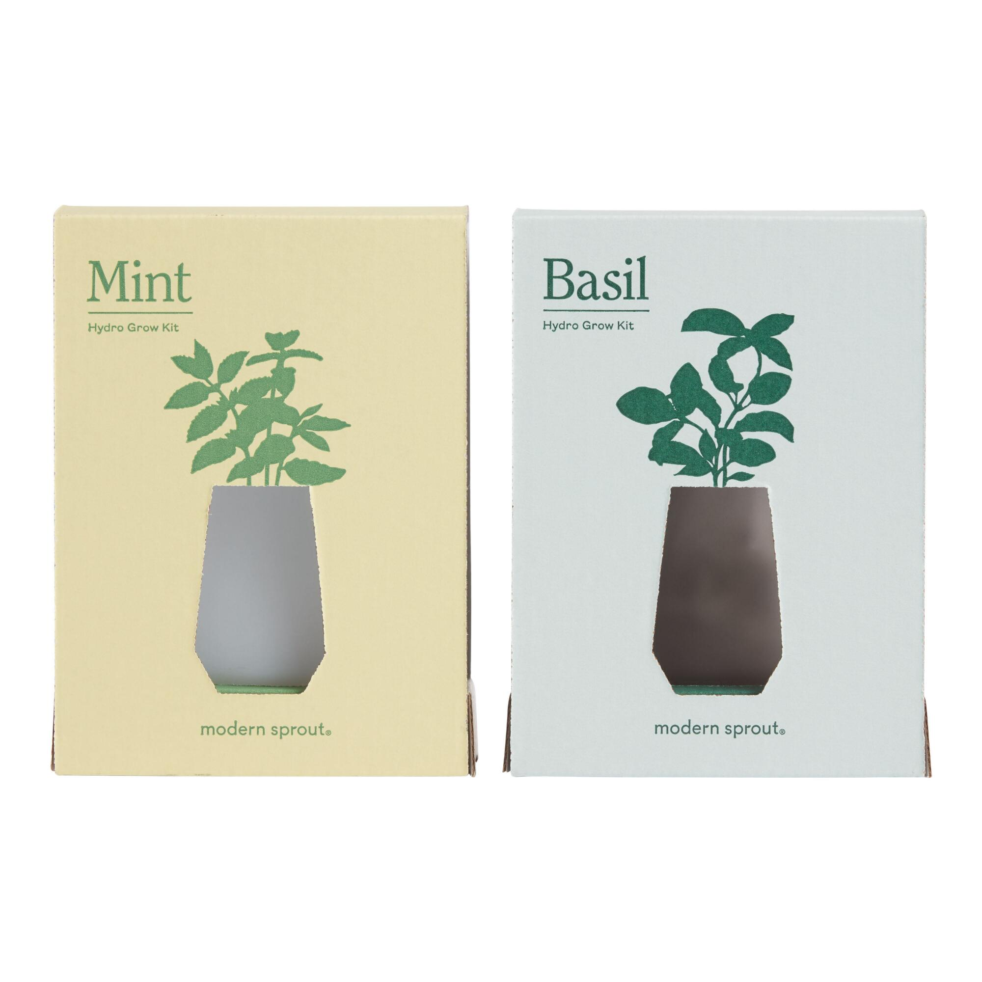 Modern Sprout Tumbler Fresh Herb Hydro Grow Kits Set Of 2 $53.98