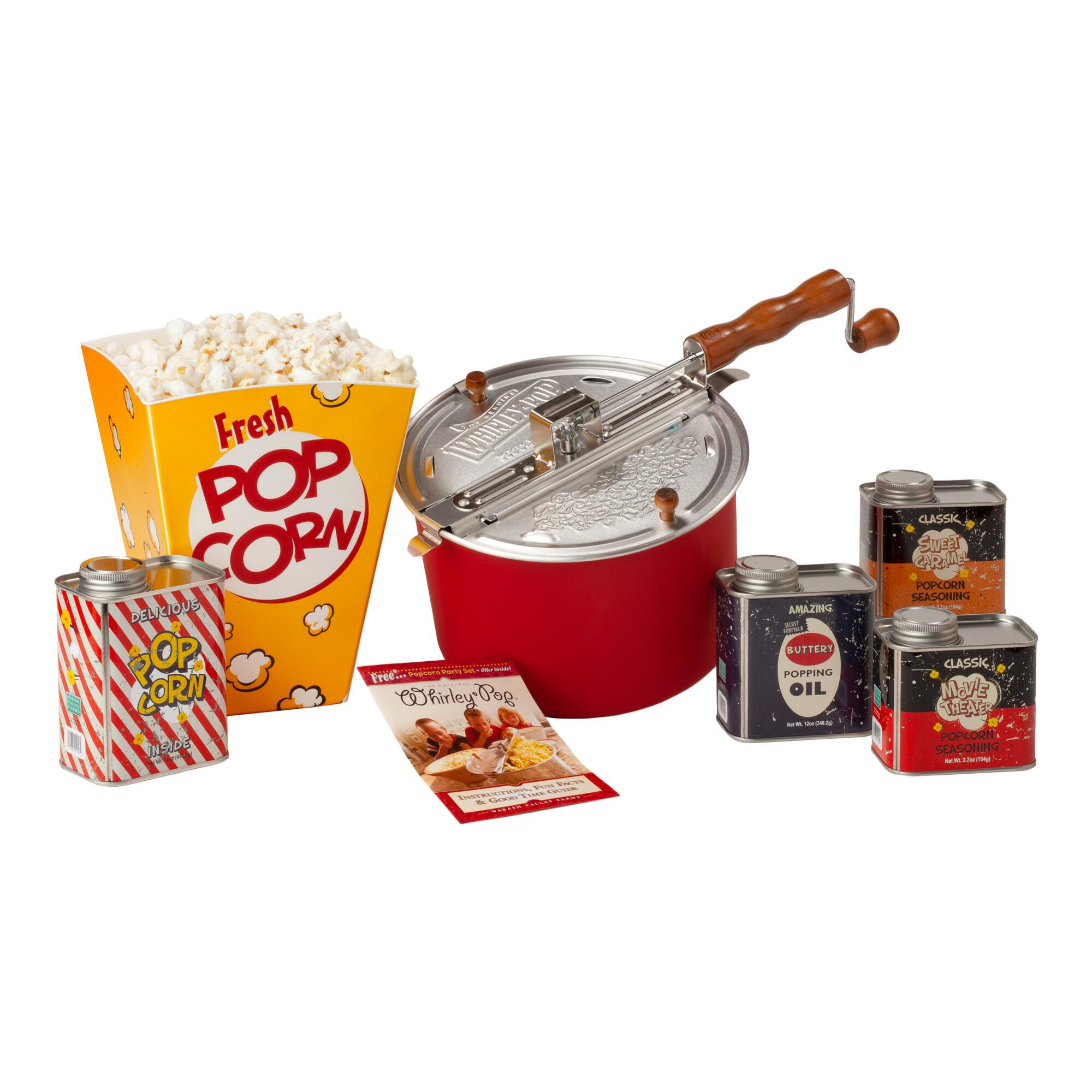Wabash Valley Farms Whirley Pop Retro Popcorn Gift Set $64.99