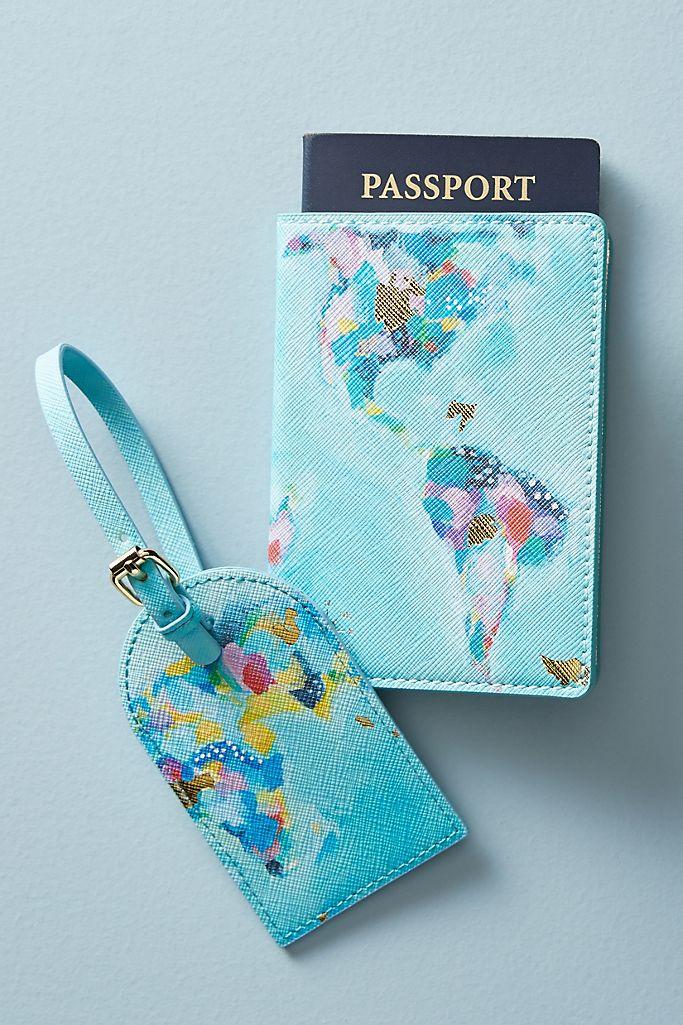 Nikki Cade Map Maker Passport Holder $24.00