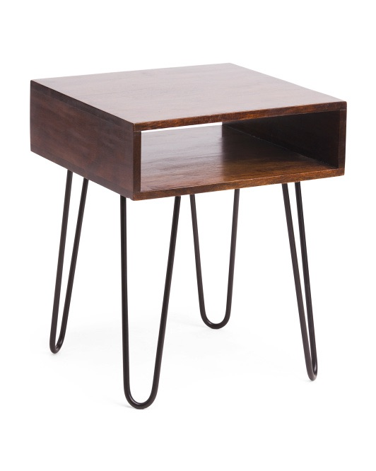 BP INDUSTRIES Hairpin Acacia Wood Side Table $69.99 https://fave.co/37NgC6V