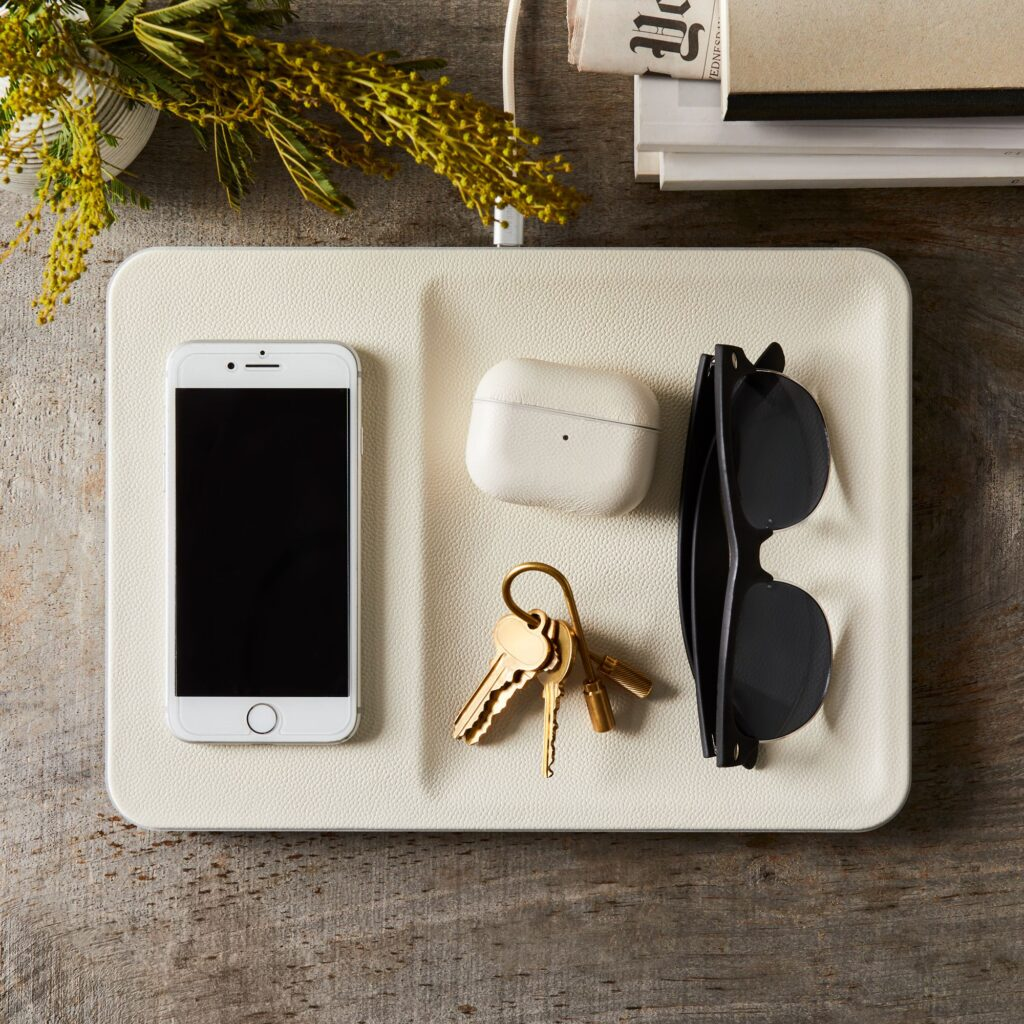 Wireless Phone Charging Leather Tray $175