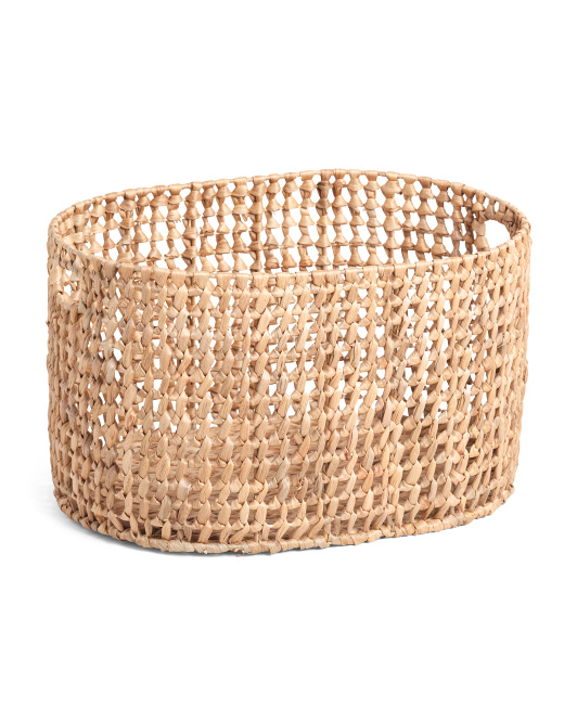 VIET05 Large Oval Open Weave Basket $29.99