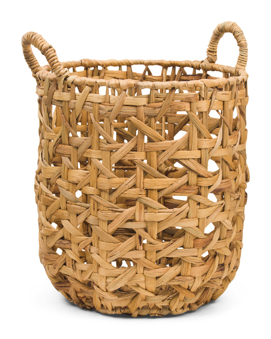VIET05 Small Natural Round Canning Basket With Handles $19.99