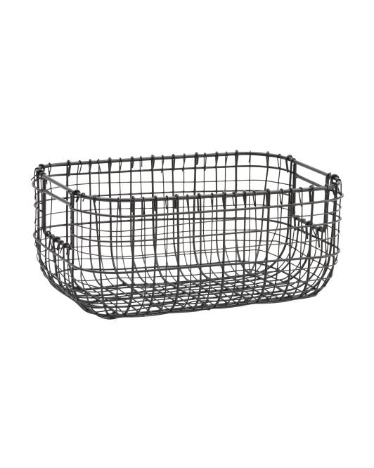 RGI HOME Small Matte Double Gauge Weave Desk Top Basket $9.99