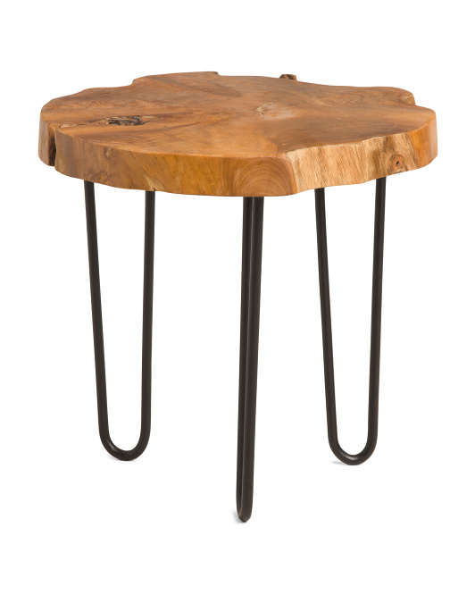 J HUNT Wood Side Table $59.99 https://fave.co/3atx8w7