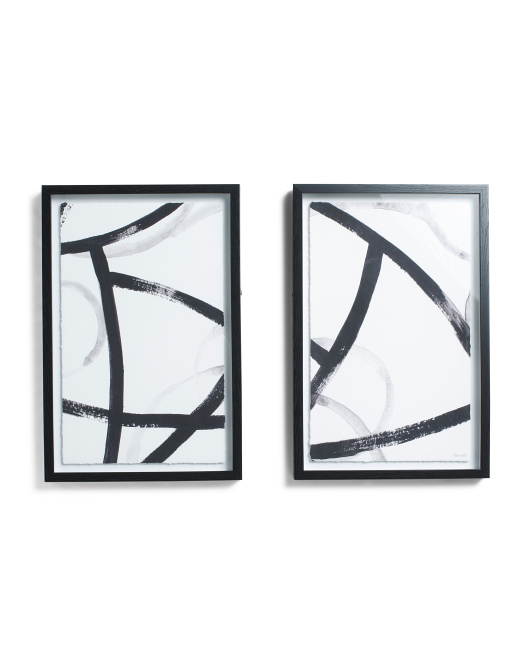 MARMONT HILL INC Set Of 2 18x12 Abstract Wall Art $39.99 https://fave.co/34syHGQ