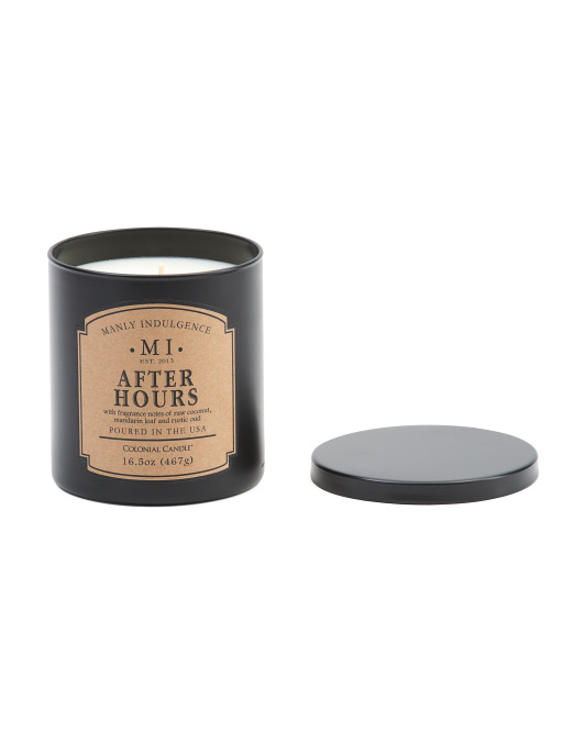 MANLY INDULGENCE Made In Usa 16.5oz After Hours Candle $7.99