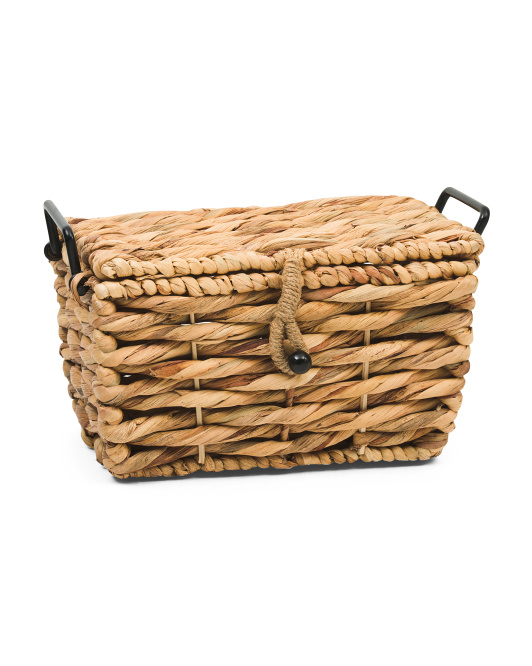 VIET05 Small Natural Trunk With Rope Lock And Metal Handles $12.99