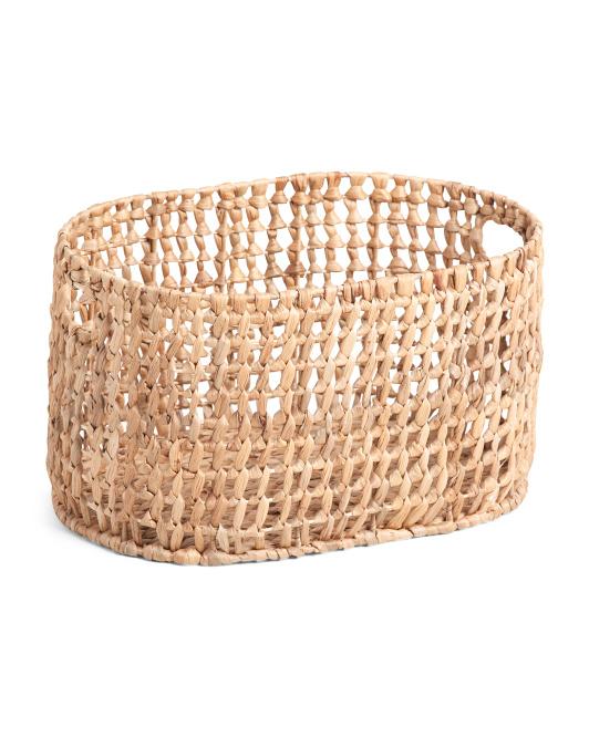 VIET05 Small Oval Open Weave Basket $16.99