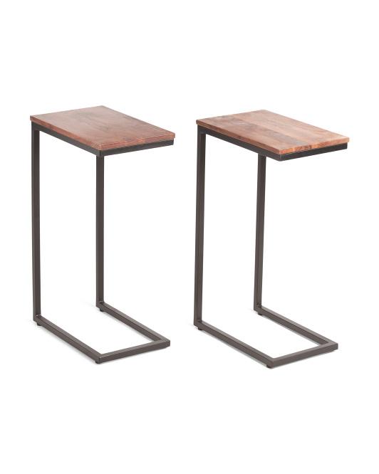 JOFRAN Set Of 2 Solid Acacia C Tables $99.99