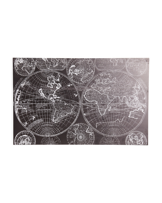 URBAN TRENDS Wood Rectangle World Map $39.99