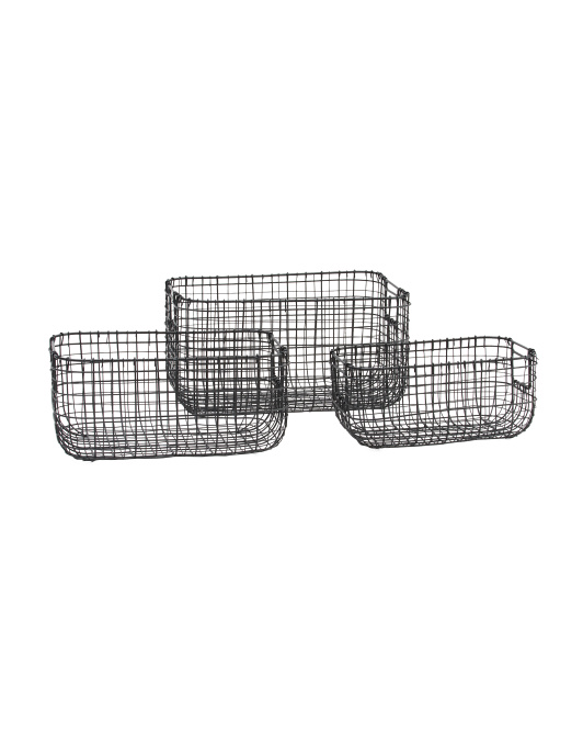 RGI HOME Double Gauge Weave Desk Top Basket Collection $9.99 — $14.99