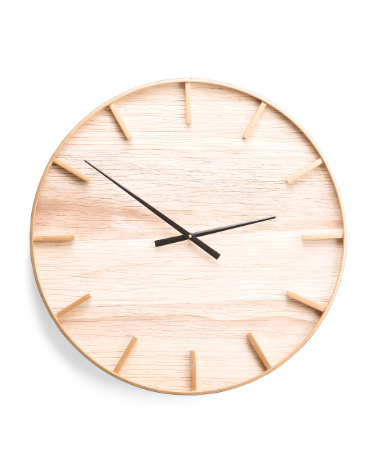 UMA 24in Wood And Metal Clock $49.99