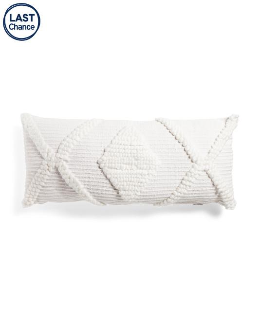 ENVOGUE 18x40 Oversized Textured Lumbar Pillow $29.99