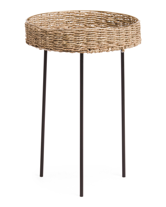 SAGEBROOK HOME 24in Rattan Round Accent Table $49.99