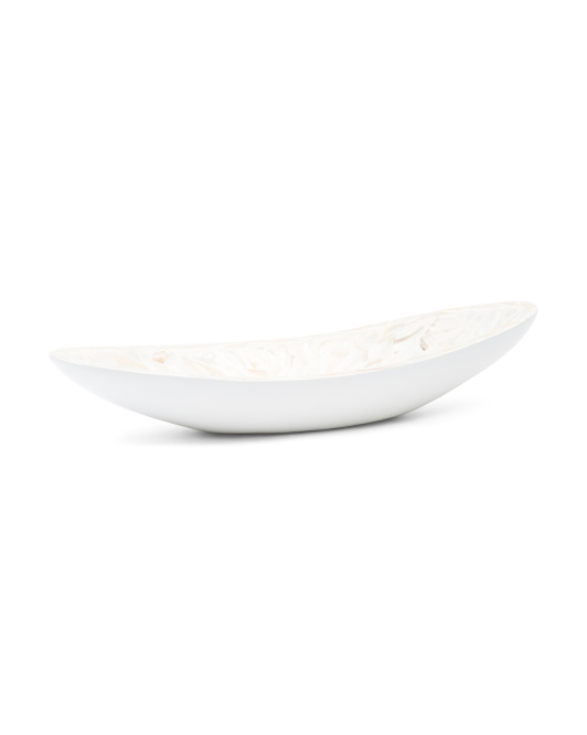 HANDCRAFTED IN VIETNAM Mother Of Pearl Boat Tray $19.99
