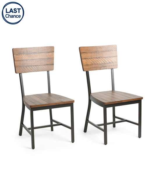 MAGNOLIA HOME Set Of 2 Wood Dining Chairs $249.99
