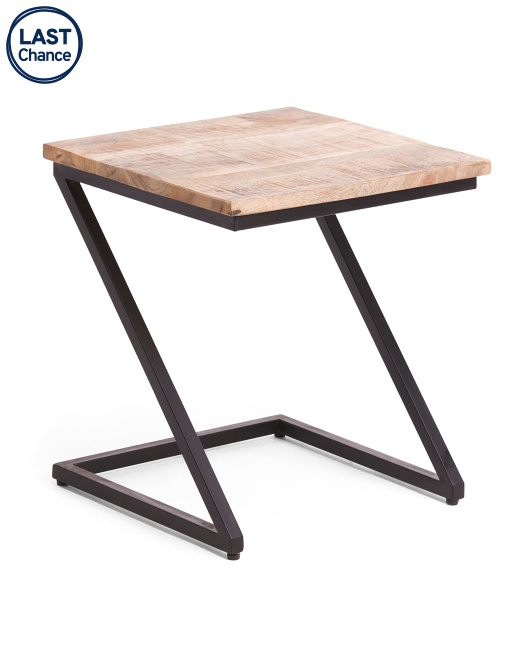 MADELEINE HOME Lilly Mango Wood Z Table $49.99