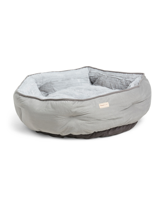 POOCH PLANET Large Grand Escape Orthopedic Memory Foam Cuddler Pet Bed $39.99