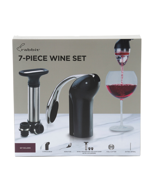 RABBIT 7pc Wine Bar Set $24.99