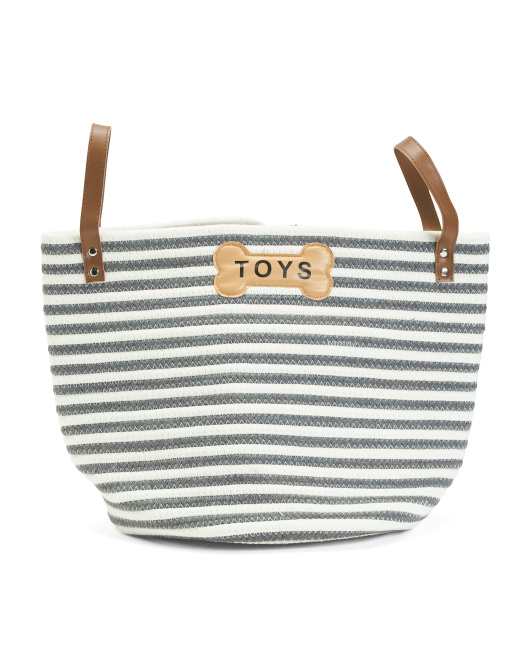 PARK LIFE DESIGNS Cotton Rope Sienna Toy Basket With Handles $16.99