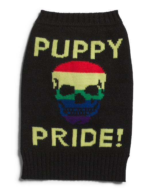 360 CASHMERE Puppy Pride Sweater$14.99
