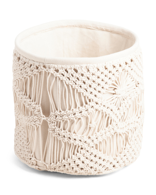 HANDCRAFTED IN INDIA Made In India Medium Macrame Basket $19.99