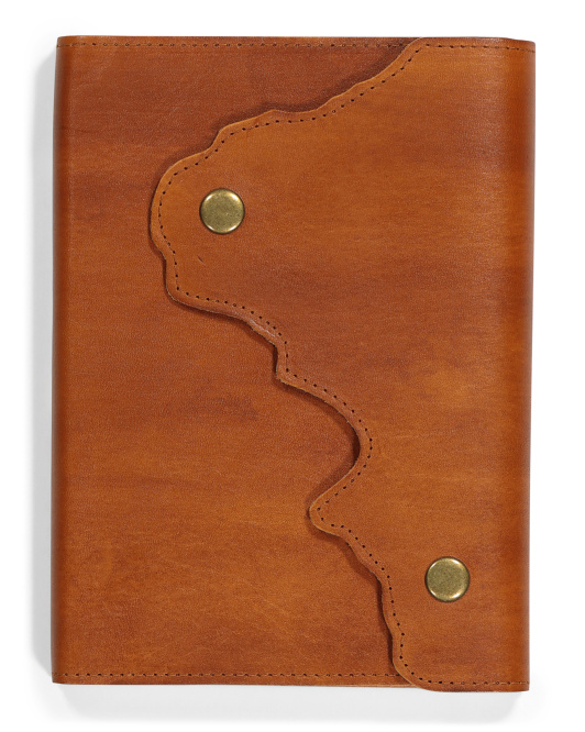 MADE IN ITALY A5 Map Leather Notebook $14.99