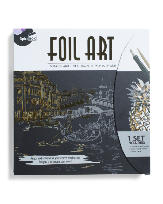 SPICEBOX Sketch Foil Art Set $14.99