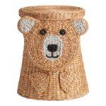 Natural Hyacinth Bear Buddy Basket With Lid $79.99