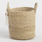 Small Seagrass Delilah Tote Basket With Tassels $34.99